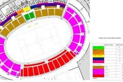 Olympiastadion Sousse - Sitzverteilung nach Ausbau