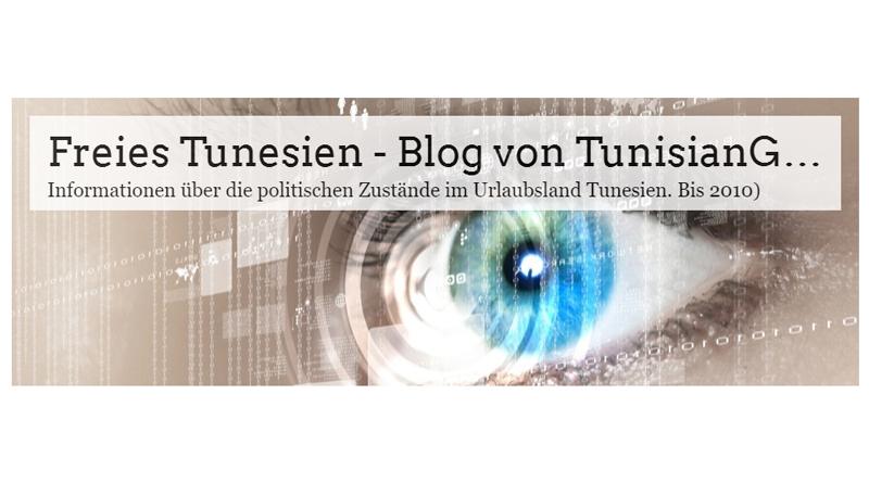 Blog TunisianGhost von 2008 - 2010 unter http://freies-tunesien.over-blog.com