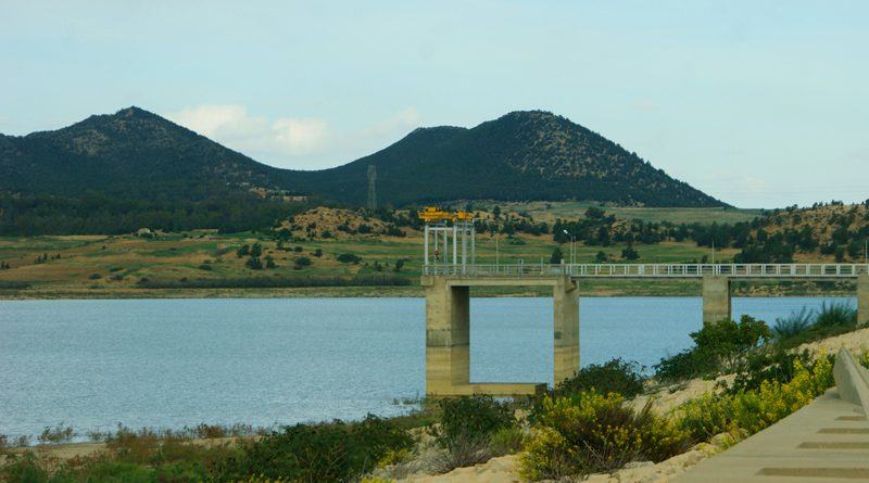 Trinkwasserbestand Wasserversorgung Staudamm in Zaghouan