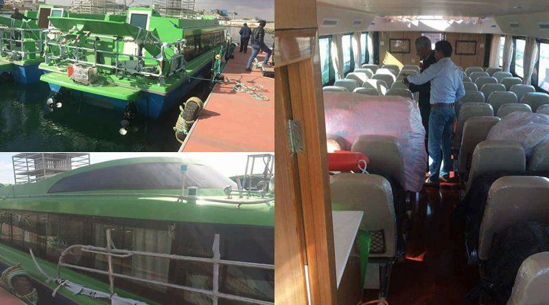 """Expressfähren """"Tacapes"""" für die Djerba-Gabes Linie und die """"Taparura"""" für die Linie Djerba-Sfax"""
