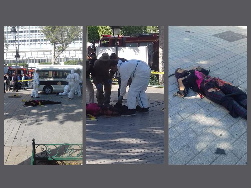 Selbstmordattentäterin mit Sprengstoffgürtel auf der Avenue Habib Bourguiba in Tunis am 29.10.2018.