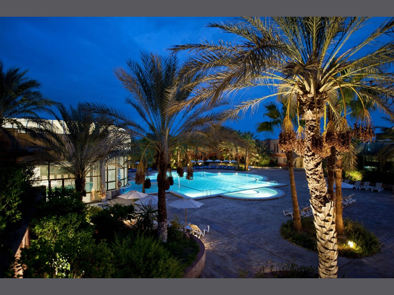 Hotel Palm Beach Palace Tozeur Poollandschaft