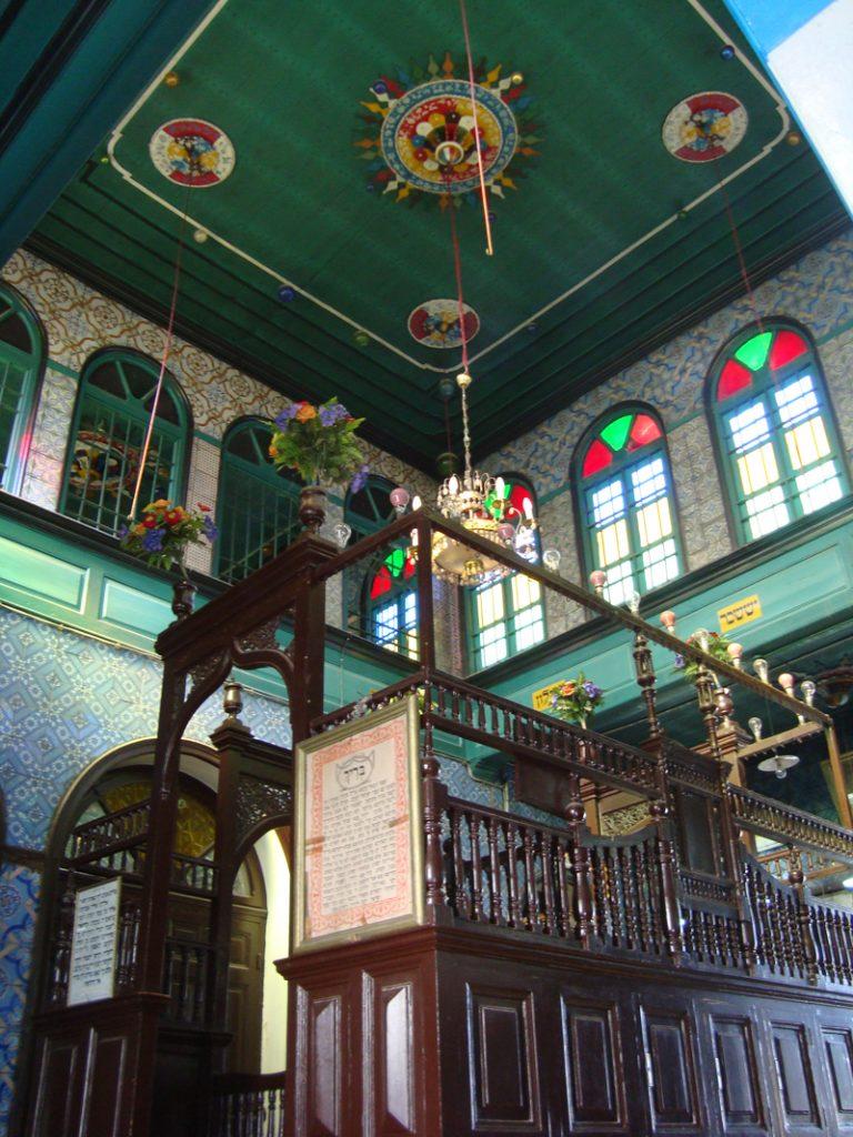 Al Ghriba Synagoge Innenansicht mit Decke