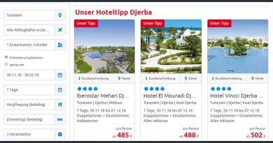 Alltours Winter 2018-2019 – Angebot für Tunesien deutlich ausgebaut