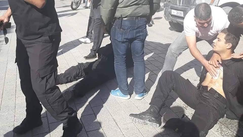 Verletzte Polizisten nach dem Attentat
