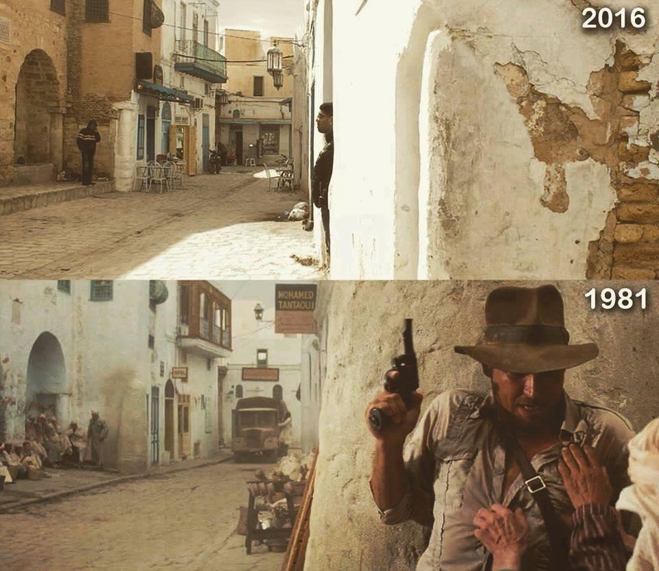"Szene aus ""Jäger des verlorenen Schatzes"" in Kairouan"