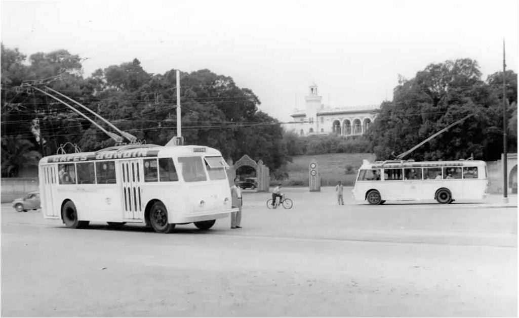 Trolleybus in Tunis im Jahr 1960