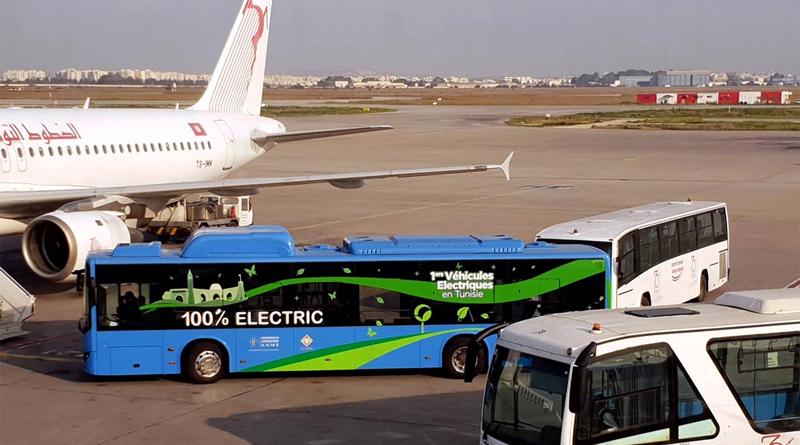 Elektrobus im Flughafeneinsatz