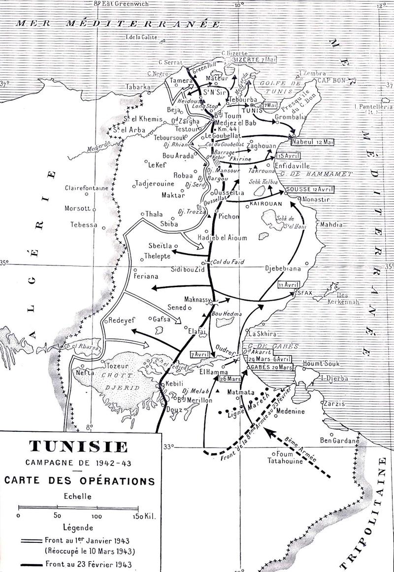 Afrikafeldzug 1942/1943 Karte