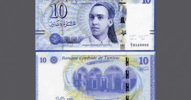 10-Dinar-Schein Kategorie 2013 - Aboul Kacem Echebbi