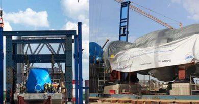 Gasturbine und Generator für neuen Kraftwerkblock Radés C