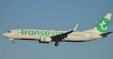 Boeing 737-800 der Transavia Frankreich - Von Spotting973 - Boeing 737-8K2 Transavia F-GZHU, CC BY-SA 2.0, https://commons.wikimedia.org/w/index.php?curid=45332637