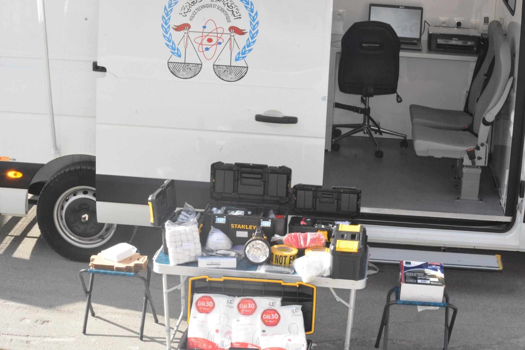 Mobile Labortechnik der tunesischen Polizei