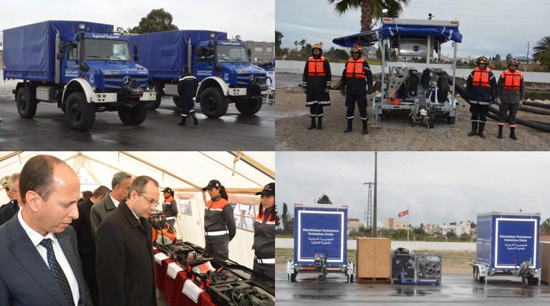 THW-Lieferung vom 28. Januar 2019 nach Tunesien - Ausrüstung zur Hochwasserbekämpfung