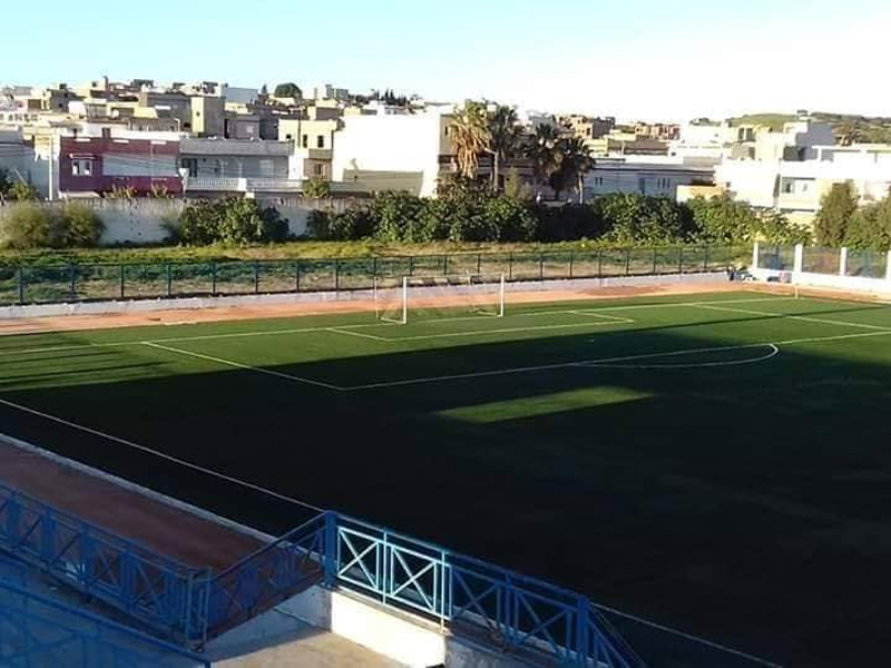Renoviertes Stadion in Menzel Abderrahmen