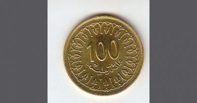 Münze 100 Millimes Symbolbild
