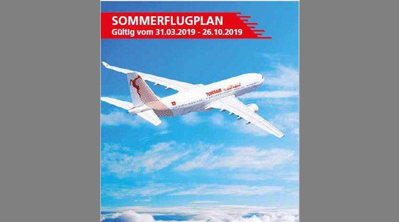 Tunisair Sommer 2019 Titel