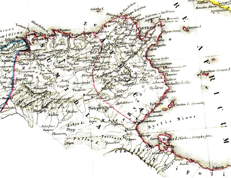 Karte Numidien und karthagisches Hinterland