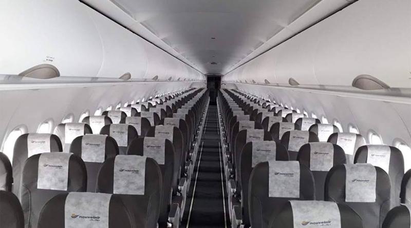 Nouvelair Airbus A320 TS-INT Innenansicht