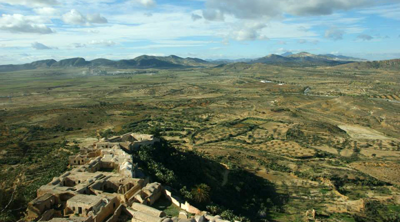 Das Berberdorf Takrouna nahe Enfidha am Golf von Hammamet