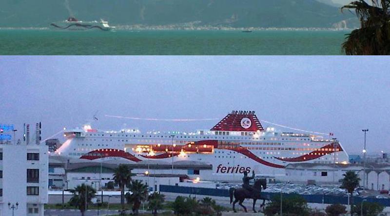 Ankunft der neuen Fähre Tanit am 16.02.2012 im Hafen La Goulette