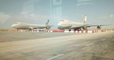 Boeing B747 am Flughafen Tozeur, Tunesien