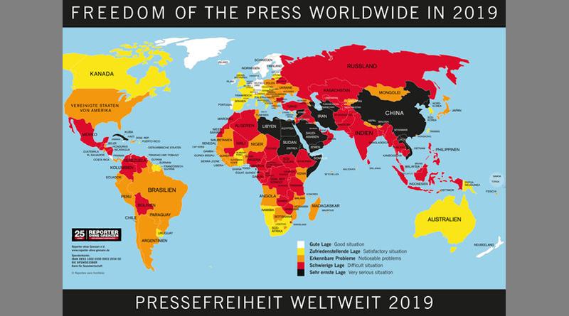 Pressefreiheit 2019 - Reporter ohne Grenzen