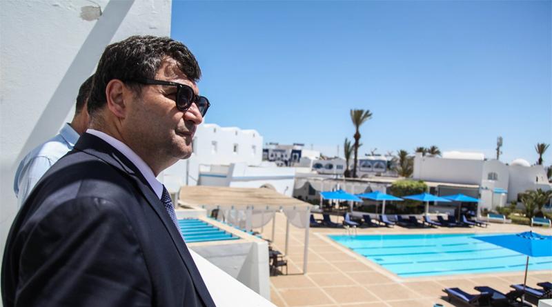 Eröffnung des Hotels Haroun auf Djerba während der Pilgerfahrt La Ghriba 2019 durch Tourismusminister René Trabelsi