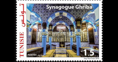 Briefmarke La Ghriba 2019 zu 1,500 Dinar