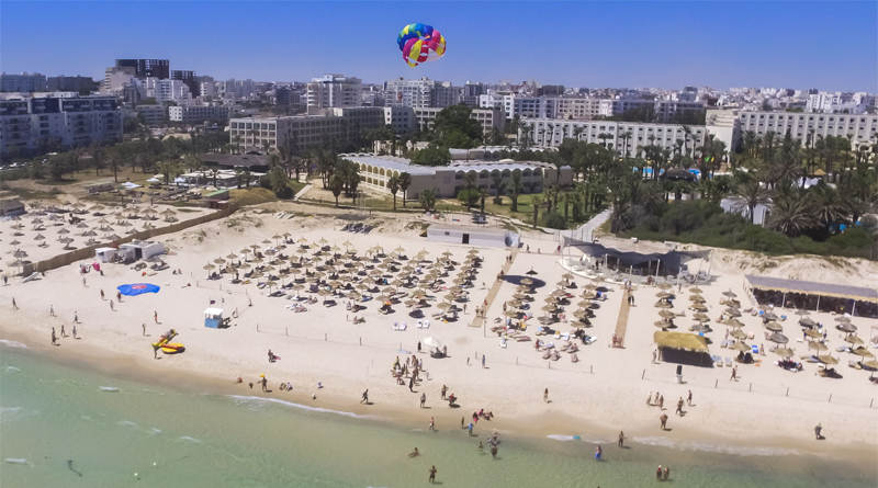 Marhaba Resort-Komplex - Blick vom Strand