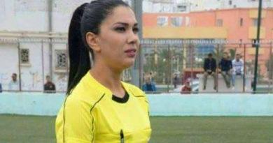 Schiedsrichterin Dorsaf Ganoiati