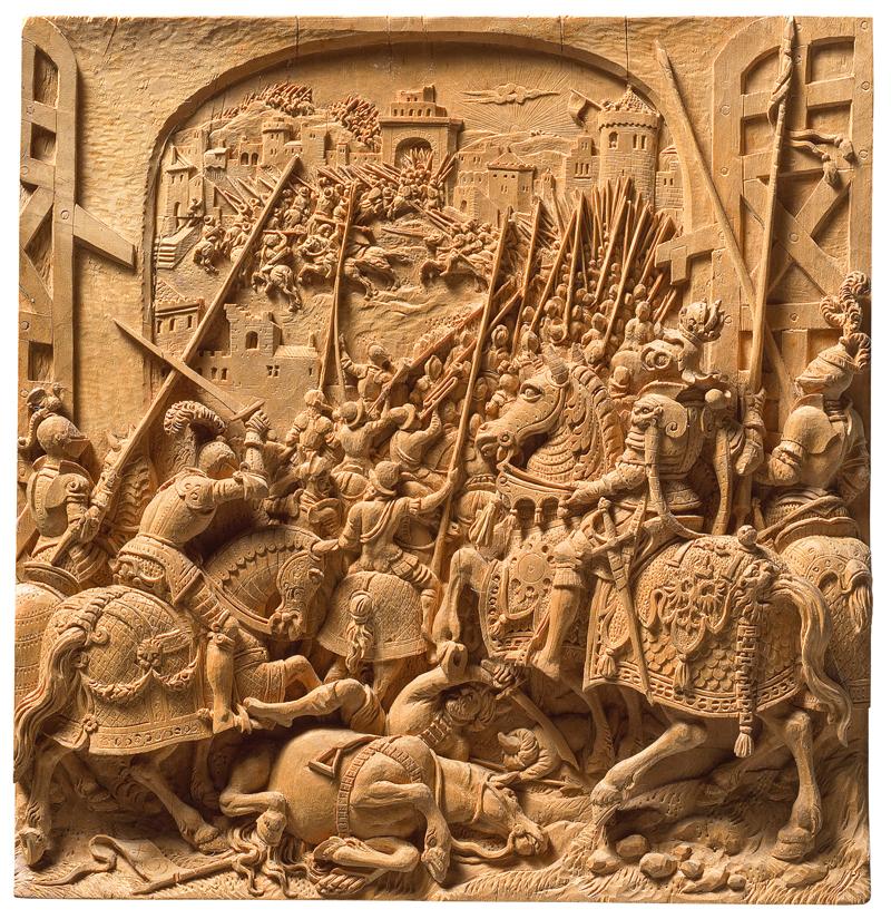 Schlacht von Tunis von Dirk Coornhert, Süddeutsch (Nürnberg?), um 1560 Kirschholz Kunsthistorisches Museum Wien, Kunstkammer, Inv.-Nr. KK 3986 © KHM-Museumsverband