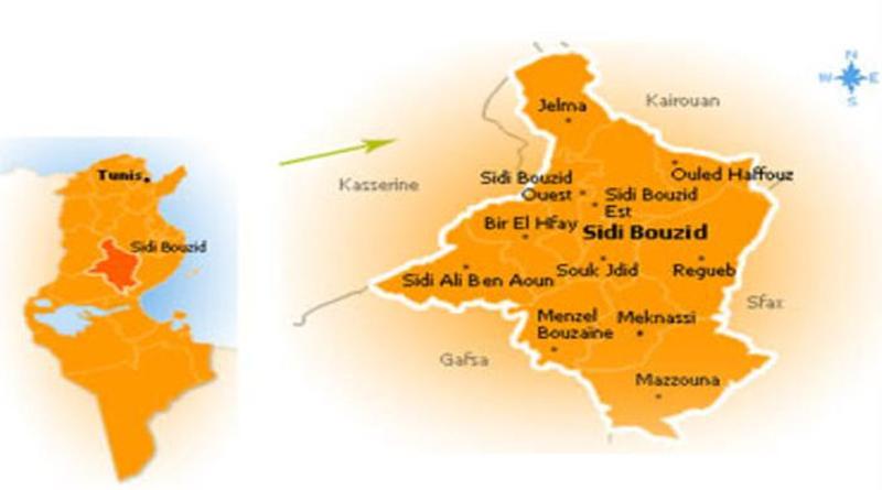 Sidi Bouzid Karte
