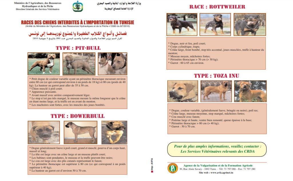 Verbotene Tierarten für den Import.