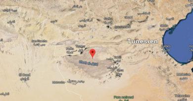 Der Salzsee Chott El Djerid in Tunesien