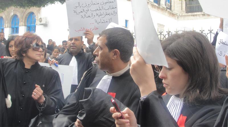 Demonstration von Rechtsanwälten am Dienstag, 28. Dezember 2010