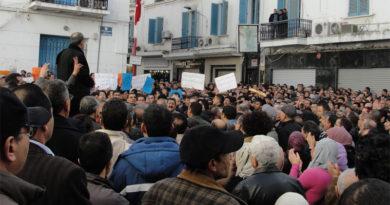 Unterstützungsdemonstration Sidi Bouzid (2) am 27. Dezember 2010 in Tunis