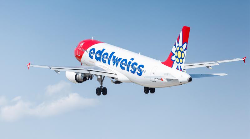 Airbus A320 der Edelweiss Air - Foto: Edelweiss