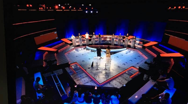 TV-Debatte der Präsidentschaftskandidaten - Bild: Television Tunisienne