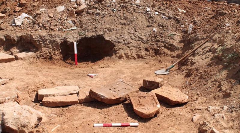 Ausgrabung von christlichen Gräbern in Bir Nahal bei Kelibia