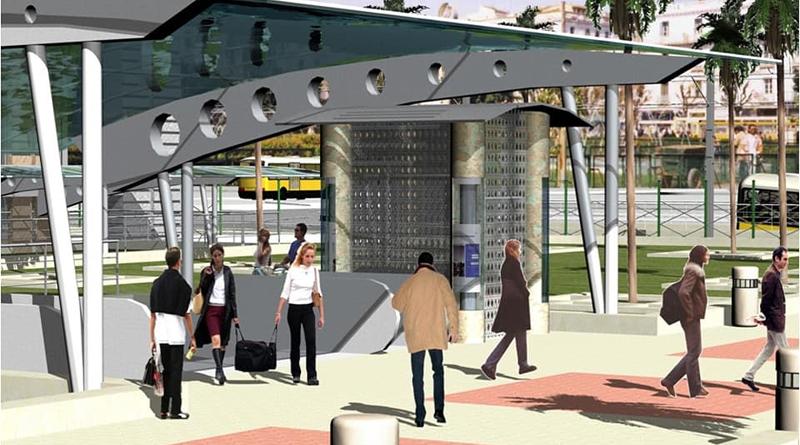 Umgestaltung des Place Barcelone in einen Umsteigeknoten für Bus, Bahn, Zug und Schnellbahn