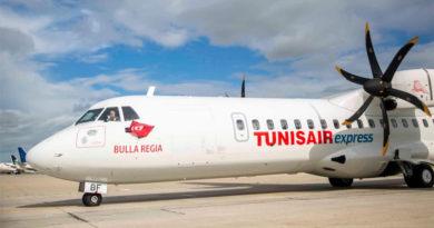 Flugbetrieb Erste neue Maschine des Typs ATR72-600 namens Bulla Regia CE für Tunisair Express