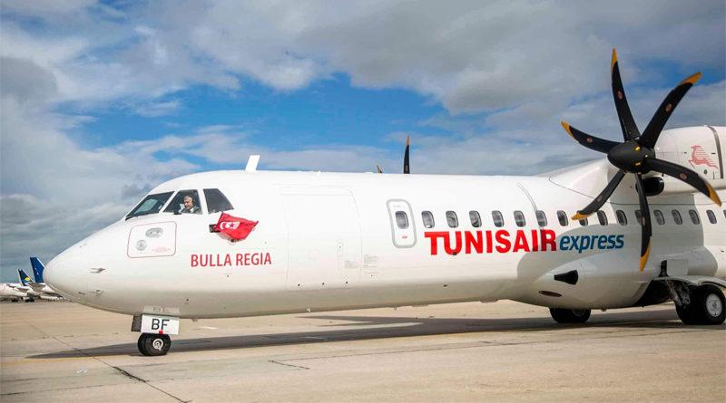 Tunisair-Express Flugbetrieb Erste neue Maschine des Typs ATR72-600 namens Bulla Regia CE für Tunisair Express