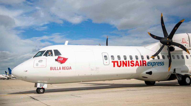 Erste neue Maschine des Typs ATR72-600 namens Bulla Regia CE für Tunisair Express