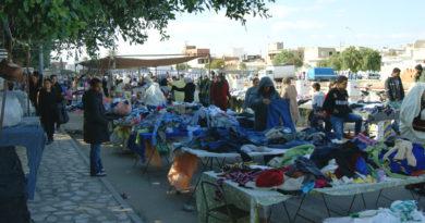 Gebrauchtkleidermarkt (Frip) in Kalaa Kébira bei Sousse