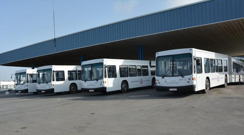 Gelenk-Linienbusse der Société de Transport du Sahel Sousse (STS)