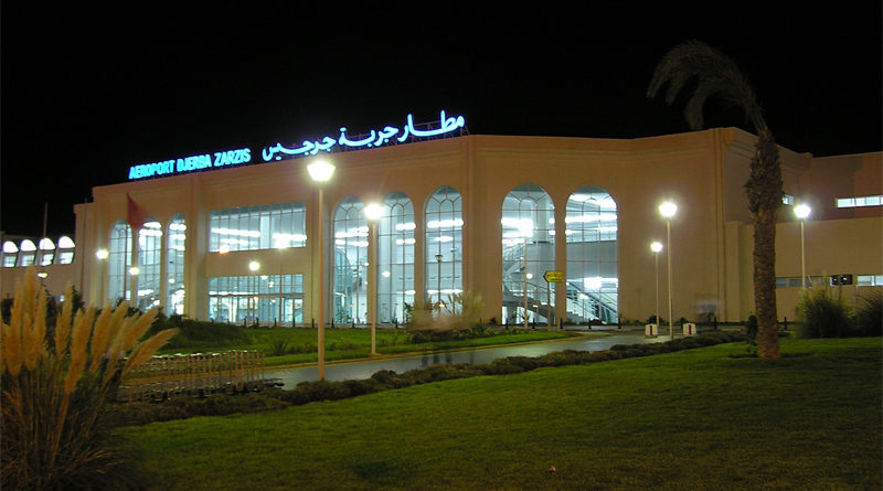 Flughafen Djerba-Zarzis bei Nachtt - Foto: Martin Čejka., Attribution, https://commons.wikimedia.org/w/index.php?curid=6609063