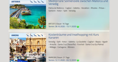 Phoenix Reisen schaltet Kreuzfahrten bis Mai 2022 frei