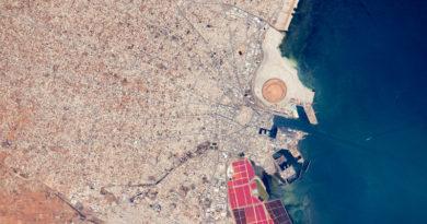 Sfax aus dem All. aufgenommen aus der Raumstation ISS