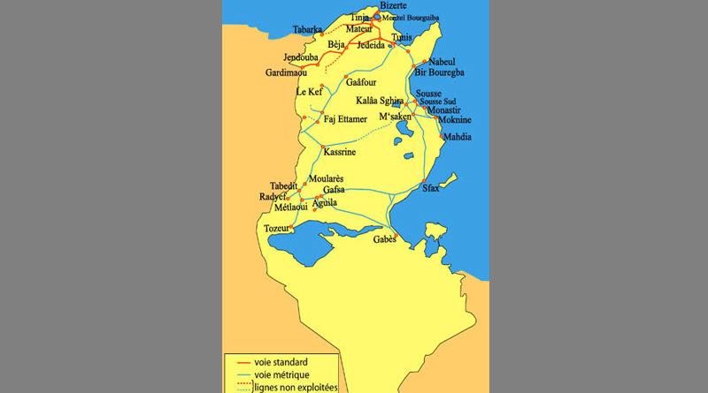 Strecken der Tunesischen Bahn (SNCFT)